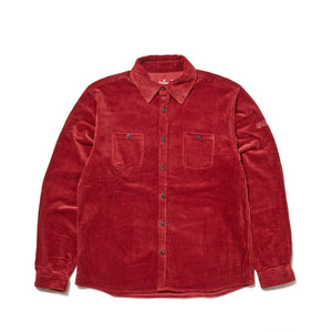 UNDER GROUND FORCES CORDUROY SHIRT - RED