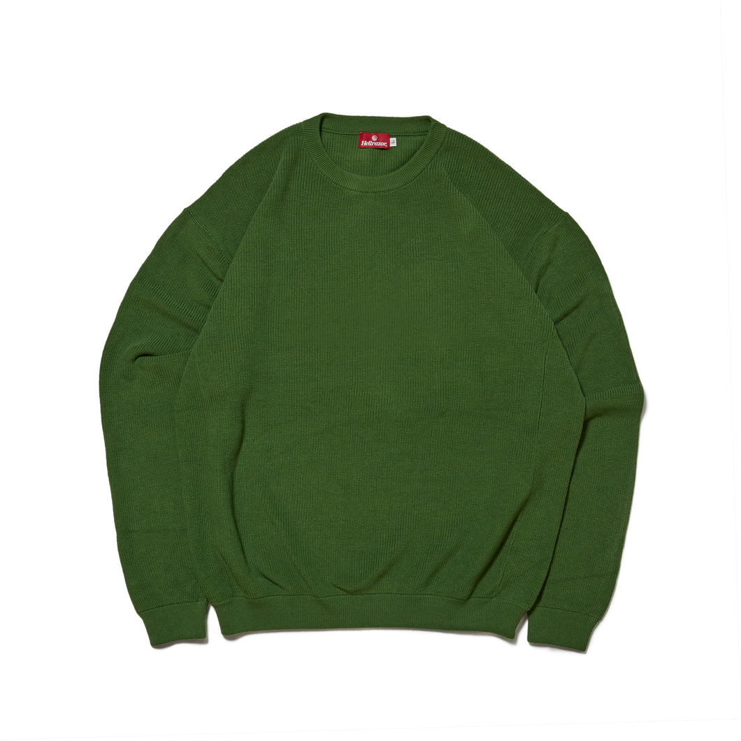 UNDER GROUND FORCES  CREW KNIT SWEATER - GREEN