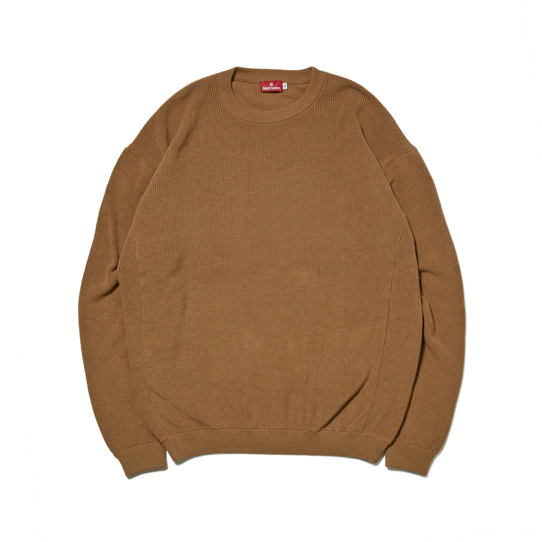 UNDER GROUND FORCES  CREW KNIT SWEATER - COYOTE
