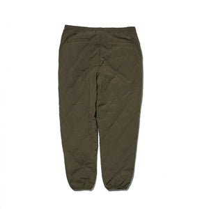 WAVE QUILTED PANTS - ARMY GREEN