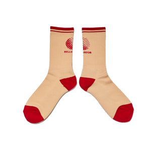 LOGO SOX - CREAM/RED