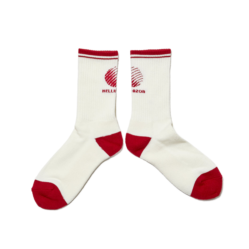 LOGO SOX - WHITE/BURGUNDY