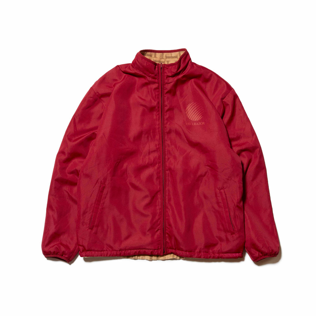 LOGO REVERSIBLE FLEECE NYLON JACKET - BURGUNDY