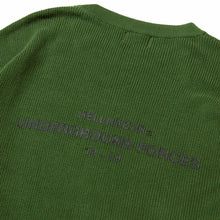 Load image into Gallery viewer, UNDER GROUND FORCES  CREW KNIT SWEATER - GREEN