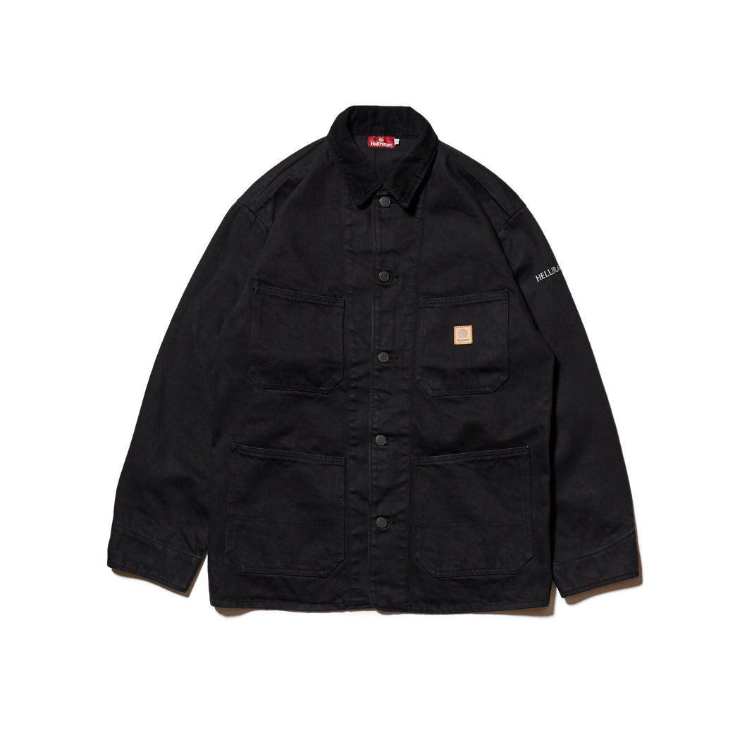 PLATINUM PAINTER DENIM JACKET - BLACK DENIM