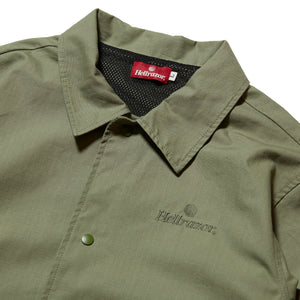 TRADEMARK RIPSTOP COACH JACKET - OLIVE
