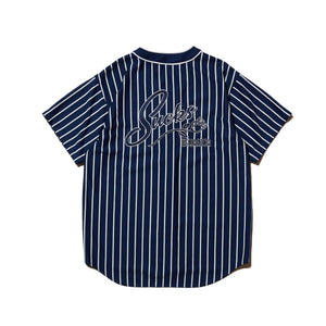 SUCKS MESH BASEBALL SHIRT - NAVY