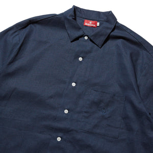 h SOLID SHIRT - DEEP BLUE