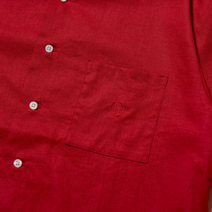 h SOLID SHIRT - BURGUNDY