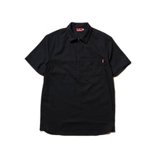 Load image into Gallery viewer, HALF ZIP OXFORD SHIRT - BLACK