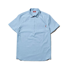 Load image into Gallery viewer, HALF ZIP OXFORD SHIRT - SAX BLUE