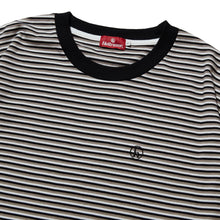 Load image into Gallery viewer, h STRIPED SHIRT - BLACK