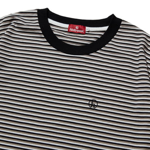 h STRIPED SHIRT - BLACK