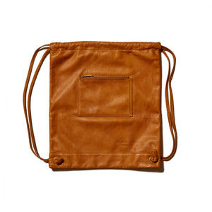 LEATHER KNAPSACK - BEIGE