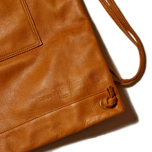 Load image into Gallery viewer, LEATHER KNAPSACK - BEIGE