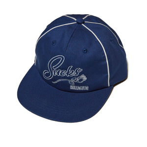 SUCKS PIPING 6PANEL CAP - NAVY