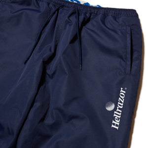 FLAME REVERSIBLE FLEECE NYLON PANTS - BLUE