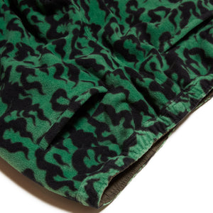 FLAME REVERSIBLE FLEECE NYLON PANTS - GREEN