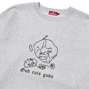 GOD EATS GODS CREW NECK - GREY