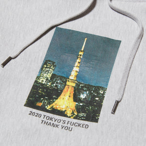 THANK YOU TOKYO HOODIE - GREY