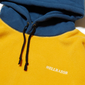 FLEECE PARKA - ORANGE & BLUE