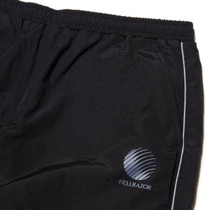 LOGO NYLON PANTS - BLACK