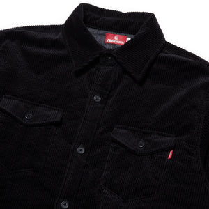 CORDUROY SHIRT JACKET - BLACK