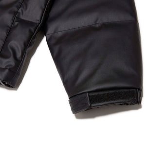 FAUX LEATHER DOWN JACKET - BLACK