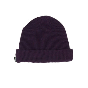 SOLID COTTON BEANIE - PURPLE