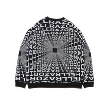 Load image into Gallery viewer, HELLRAZOR x DOWN NORTH CAMP GRAVITATE CREW NECK - BLACK