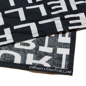 HELLRAZOR x DOWN NORTH CAMP GRAVITATE BANDANA - BLACK