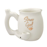 Ceramic Stoner Girl Mug Pipe