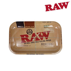 "Rolling Tray RAW Metal Small 13.6"" x 7"" x 0.8"""