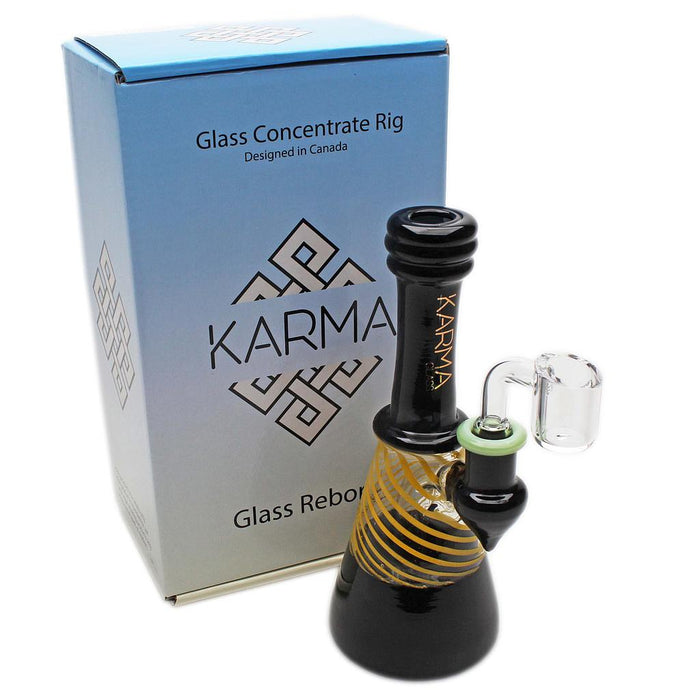 Glass Rig Karma Glass Black and Yellow With Banger