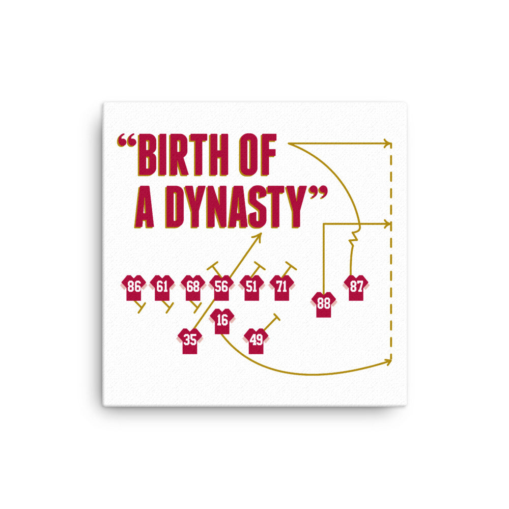 The Catch ( Birth Of A Dynasty) Canvas