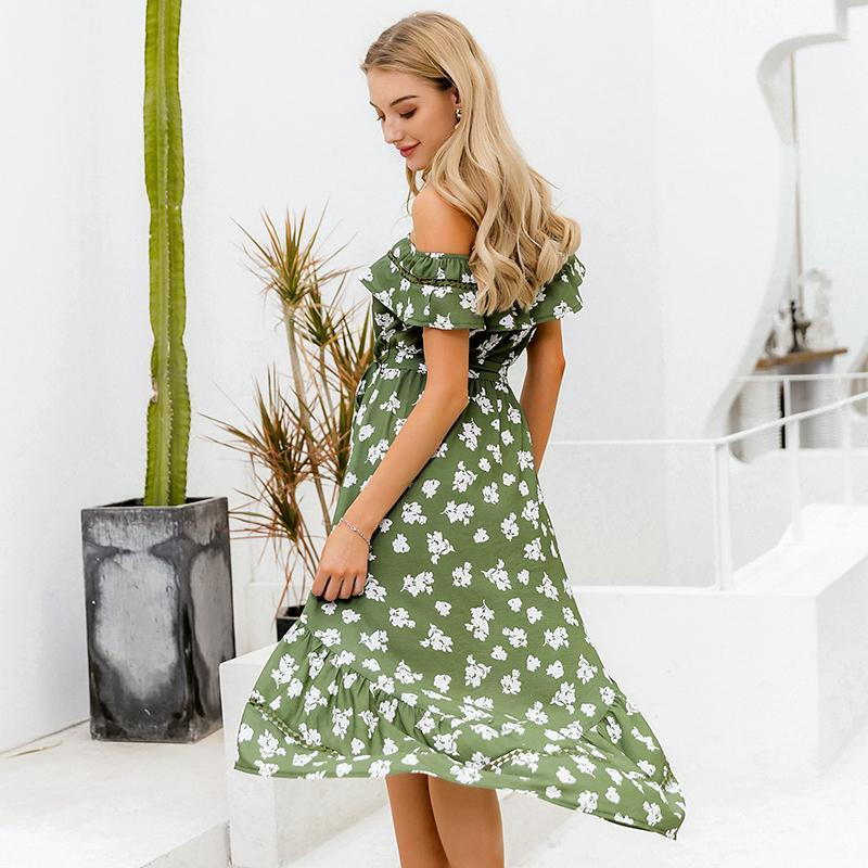 Robe Off Shoulder Bohème hippie