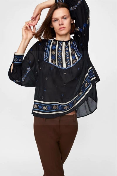 Blouse chemisier boheme chic