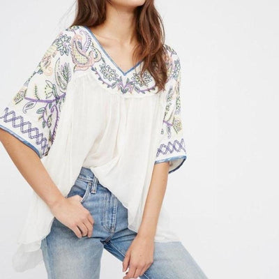 Hippie mexican blouse style