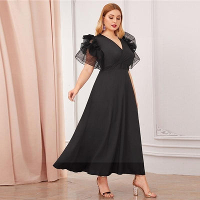 Robe boheme floral grande taille luxe