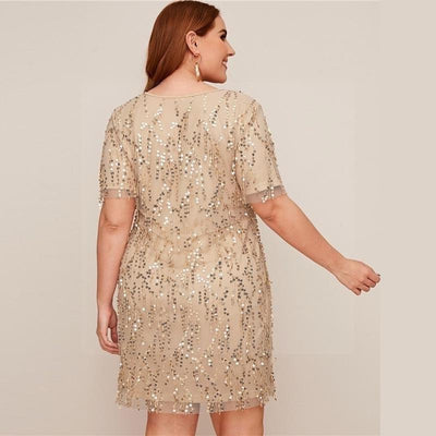 Robe hippie style grande taille luxe