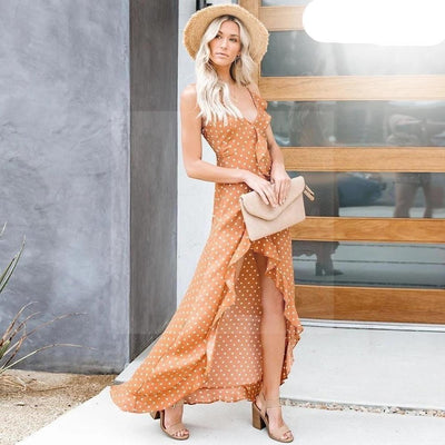 Robe bohème chic orange boho chic