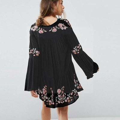 Robe boheme hivers Charmante