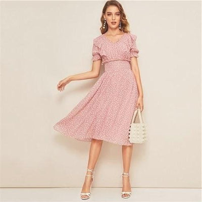Robe boheme rose pale 2020