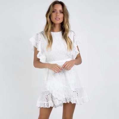Robe hippie chic blanche Charmante