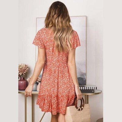 Robe it hippie orange pour une vie boho