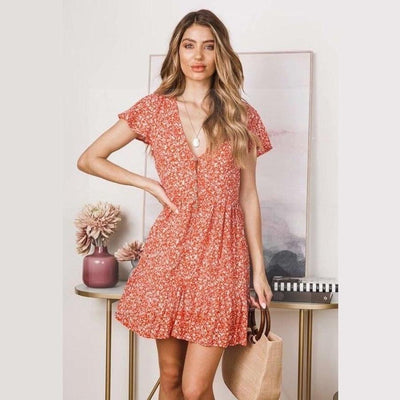 Robe it hippie orange boho chic