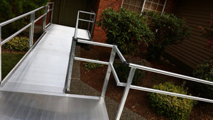 EZ-ACCESS PATHWAY 3G Modular Ramp (Solid Surface, 2-Line Handrail)