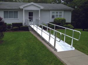 Prairie View Industries Modular XP Ramp (w/ Handrails) 36 Inches Wide