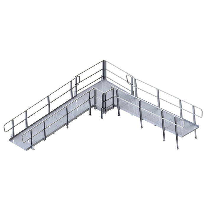Prairie View Industries Modular XP Ramp (w/ Handrails) 48 Inches Wide