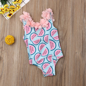 Baby Flower Cartoon Swimsuit